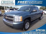 2008 Blue Granite Metallic Chevrolet Silverado 1500 Work Truck Extended Cab #75288451