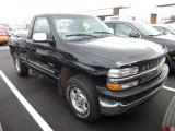 1999 Onyx Black Chevrolet Silverado 1500 LS Regular Cab 4x4 #75308005