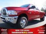 2012 Flame Red Dodge Ram 3500 HD Big Horn Crew Cab 4x4 Dually #75312665
