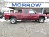 2013 Deep Ruby Metallic Chevrolet Silverado 1500 LS Extended Cab 4x4 #75312638