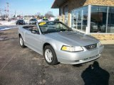 2000 Silver Metallic Ford Mustang V6 Convertible #75357548
