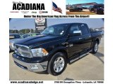 2012 Black Dodge Ram 1500 Laramie Longhorn Crew Cab #75357195