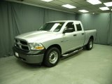 2010 Bright Silver Metallic Dodge Ram 1500 ST Quad Cab 4x4 #75357515