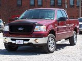 2006 Dark Toreador Red Metallic Ford F150 XLT SuperCab 4x4 #7481886