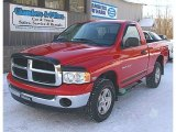 2005 Flame Red Dodge Ram 1500 SLT Regular Cab 4x4 #75357208