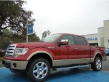 2013 Ruby Red Metallic Ford F150 Lariat SuperCrew 4x4 #75394306