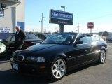 2002 Jet Black BMW 3 Series 325i Convertible #75395042