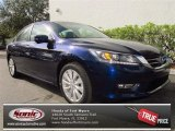 2013 Obsidian Blue Pearl Honda Accord EX Sedan #75394145