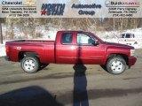 2013 Deep Ruby Metallic Chevrolet Silverado 1500 LT Extended Cab 4x4 #75394408