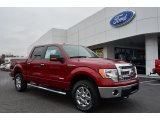 2013 Ruby Red Metallic Ford F150 XLT SuperCrew 4x4 #75394384