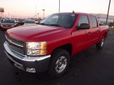 2013 Victory Red Chevrolet Silverado 1500 LT Crew Cab 4x4 #75394666
