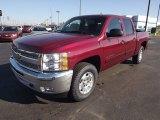 2013 Deep Ruby Metallic Chevrolet Silverado 1500 LT Crew Cab 4x4 #75394664