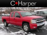 2008 Victory Red Chevrolet Silverado 1500 LT Extended Cab 4x4 #75457746