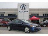 2007 Royal Blue Pearl Honda Civic LX Coupe #75457041