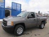 2013 Graystone Metallic Chevrolet Silverado 1500 Work Truck Regular Cab 4x4 #75457171