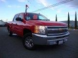 2012 Victory Red Chevrolet Silverado 1500 LS Crew Cab #75457573