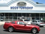 2005 Redfire Metallic Ford Mustang V6 Deluxe Coupe #75457291