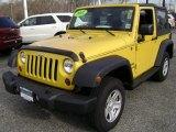 2011 Detonator Yellow Jeep Wrangler Sport 4x4 #75457008
