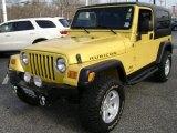 Solar Yellow Jeep Wrangler in 2006