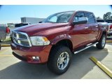 2012 Deep Cherry Red Crystal Pearl Dodge Ram 1500 Laramie Limited Crew Cab 4x4 #75457256