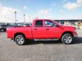 2005 Flame Red Dodge Ram 1500 SLT Quad Cab 4x4 #75457790