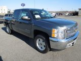 2013 Blue Granite Metallic Chevrolet Silverado 1500 LT Crew Cab 4x4 #75457662