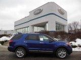 2013 Deep Impact Blue Metallic Ford Explorer XLT 4WD #75457066