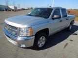 2013 Silver Ice Metallic Chevrolet Silverado 1500 LT Crew Cab #75457629