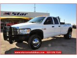 2008 Bright White Dodge Ram 3500 Lone Star Quad Cab 4x4 Dually #75524850