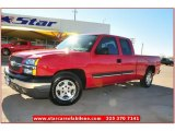 2004 Victory Red Chevrolet Silverado 1500 LS Extended Cab #75524847