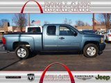 2011 Blue Granite Metallic Chevrolet Silverado 1500 LT Extended Cab #75524189