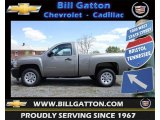 2012 Graystone Metallic Chevrolet Silverado 1500 Work Truck Regular Cab #75525112