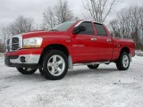 2006 Flame Red Dodge Ram 1500 SLT Quad Cab 4x4 #75525110