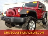 2012 Deep Cherry Red Crystal Pearl Jeep Wrangler Rubicon 4X4 #75524895