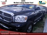 2007 Brilliant Black Crystal Pearl Dodge Ram 3500 Laramie Quad Cab 4x4 #75562269