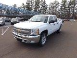 2013 Summit White Chevrolet Silverado 1500 LT Crew Cab 4x4 #75570580