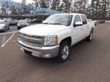 2013 White Diamond Tricoat Chevrolet Silverado 1500 LT Crew Cab #75570579
