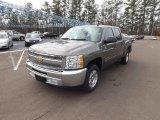 2013 Mocha Steel Metallic Chevrolet Silverado 1500 LT Crew Cab #75570576