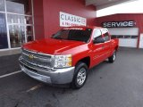 2012 Victory Red Chevrolet Silverado 1500 LT Crew Cab #75570458