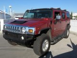 Red Metallic Hummer H2 in 2003