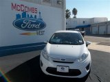 2013 Oxford White Ford Fiesta S Sedan #75611848