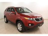 2011 Spicy Red Kia Sorento LX #75612319