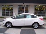 2012 White Platinum Tricoat Metallic Ford Focus Titanium Sedan #75612192