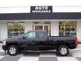 2011 Black Chevrolet Silverado 1500 LT Extended Cab #75612188