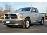 2012 Bright Silver Metallic Dodge Ram 1500 SLT Quad Cab 4x4 #75612304