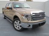 2013 Pale Adobe Metallic Ford F150 Lariat SuperCrew #75612058