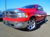 2012 Flame Red Dodge Ram 1500 Laramie Longhorn Crew Cab 4x4 #75612295