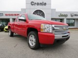2009 Victory Red Chevrolet Silverado 1500 LT Extended Cab 4x4 #75612048