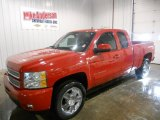 2013 Victory Red Chevrolet Silverado 1500 LTZ Extended Cab 4x4 #75670075