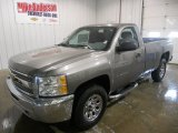 2013 Graystone Metallic Chevrolet Silverado 1500 Work Truck Regular Cab 4x4 #75670070